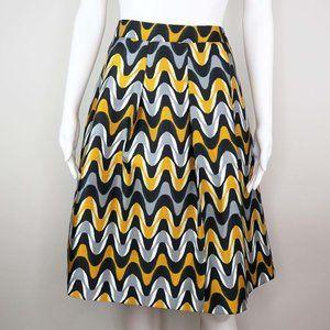 Lane Bryant Knee Length Pleated Circle Skirt